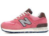 Кроссовки Женские New Balance 574 Premium Pink Suede