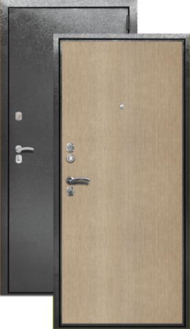 Сейф-дверь входная Берлога СК-2, 2 замка, 1,7 мм  металл, (серебро антик+беленый дуб)