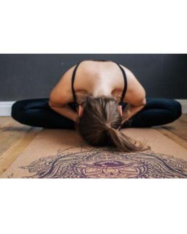 Пробковый коврик для йоги Hamsa 183*61*0,3 см