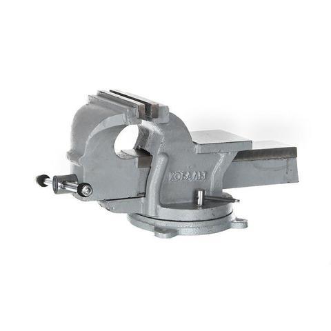 Тиски слесарные поворотные КОБАЛЬТ стальные, ширина губок 150 мм, захват 150 мм, 14.5 кг,  (248-986)