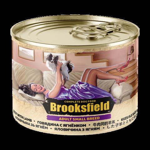 Brooksfield Adult Small Breed Консервы для собак мелких пород с говядиной и ягнёнком