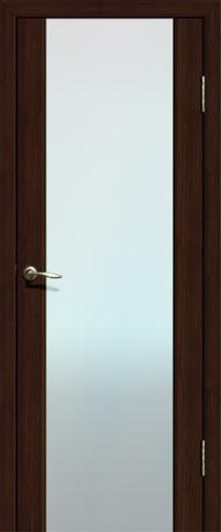 Дверь La Stella 301, стекло триплекс, цвет дуб мокко, остекленная