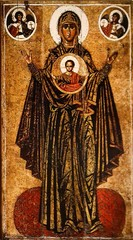 Богоматерь Великая Панагия (Оранта). Икона на дереве.