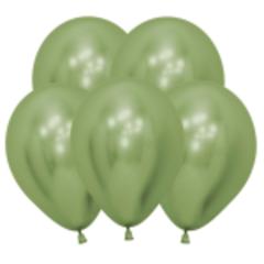 S 12 Зеркальные шары Рефлекс Лайм / Reflex Lime Green / 5 шт. /