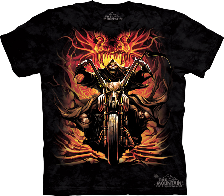 Футболка Mountain с изображением грозного байкера - Grim Rider
