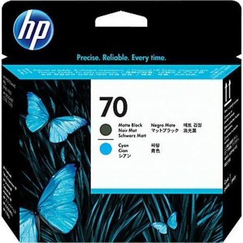 Печатающая головка №70 для HP DesignJet Z2100 черный и голубой  (C9404A)