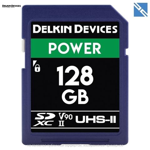 Карта памяти Delkin Devices 128GB SDXC Power UHS-II 2000x