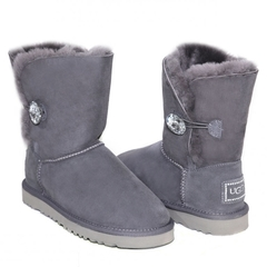 UGG Bailey Button Bling Grey