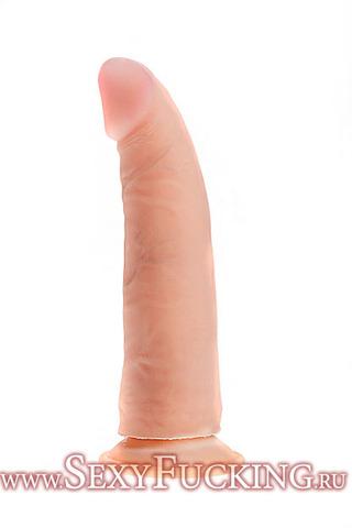 Фаллоимитатор реалистик, живая кожа, БИОКЛОН (18,5х4,5 см)