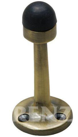 Фурнитура - Ограничитель Дверной настенный Renz DS 77, цвет бронза античная