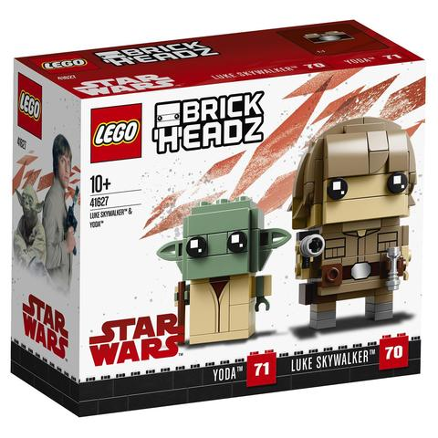 LEGO BrickHeadz: Люк Скайуокер и Йода 41627 — Luke Skywalker & Yoda — Лего БрикХедз