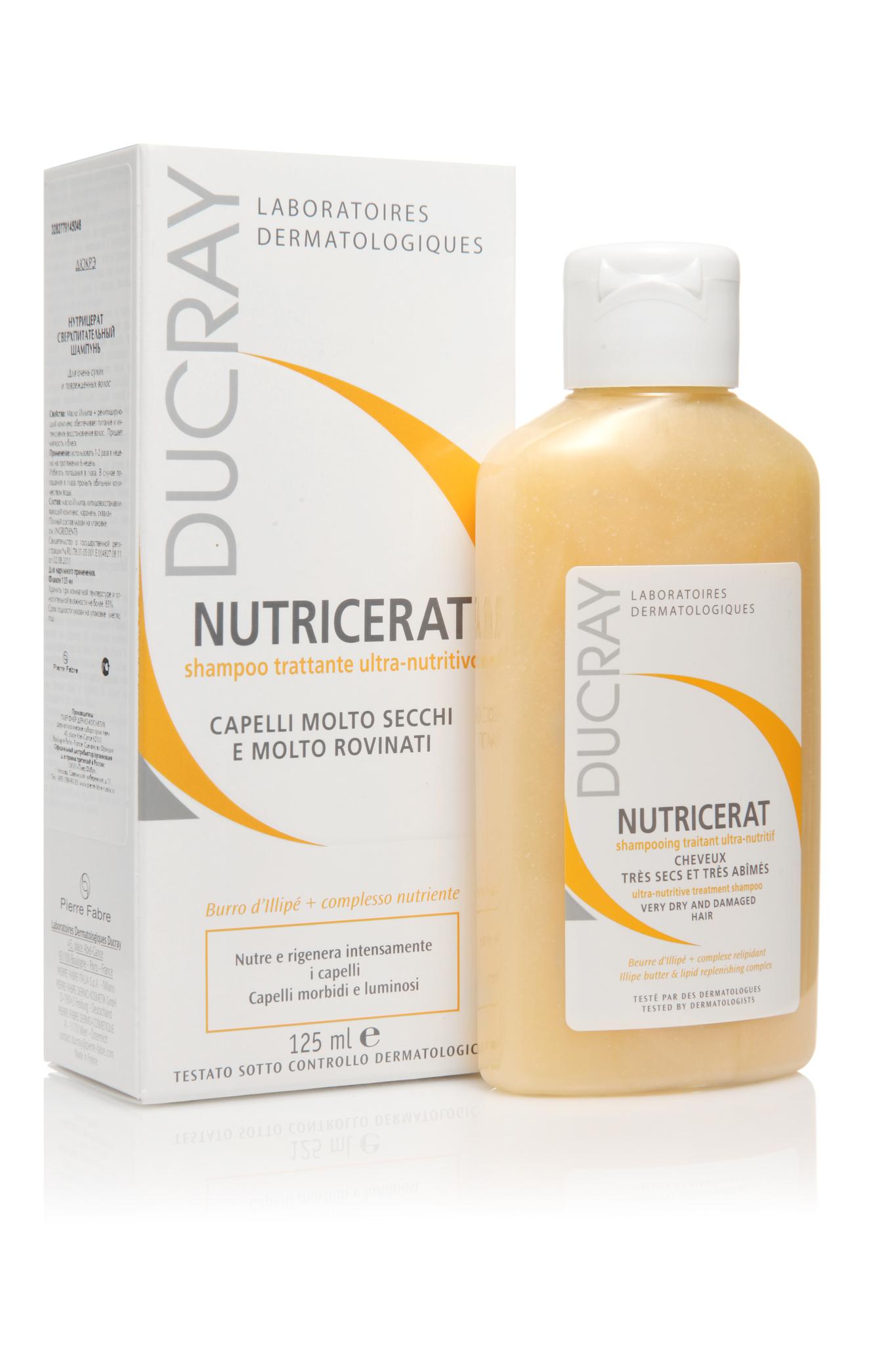 Ducray Nutricerat сверхпитательный шампунь 125 мл.