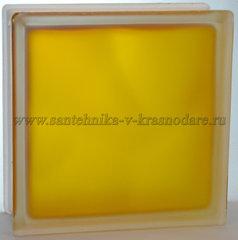 Стеклоблок матовый медовый Vitrablok 19x19x8 окрашенный изнутри
