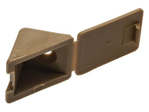 Уголок мебельный с шурупом, цвет бук, 4,0x15мм, 4шт, ЗУБР
