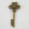 """Подвеска  """"Ключик с сердечком"""" (цвет - античная бронза) 29х14 мм"""