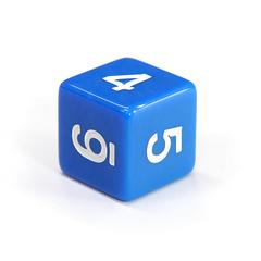 Куб D6: Синий 16мм с цифрами