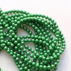 5810 Хрустальный жемчуг Сваровски Crystal Eden Green круглый 3 мм, 10 шт