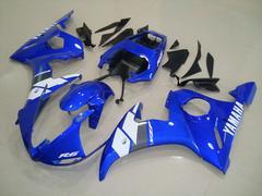 Комплект пластика для мотоцикла Yamaha YZF-R6 03-04 Сине-Белый Заводской