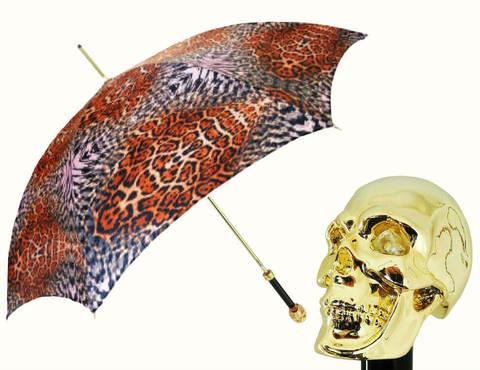 Купить онлайн Зонт-трость Pasotti 5A384-5 Golden Skull в магазине Зонтофф.