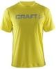 Футболка Craft Active Run Logo мужская желтая