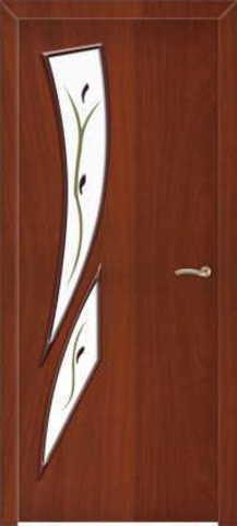 Дверь Сибирь Профиль Стрелиция (С-2ф) фьюзинг, фьюзинг, цвет итальянский орех, остекленная