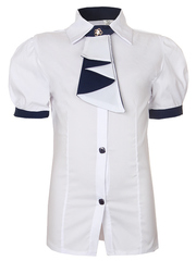 0334 блузка детская, белая