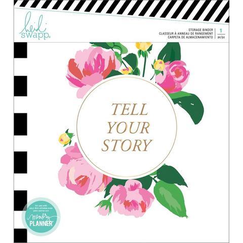 Альбом на 6-ти кольцевом механизме. Без наполнения. Heidi Swapp Memory Planner Storage Binder - Fresh Start