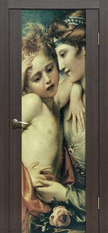 Дверь La Stella 303 фотопечать с двух сторон (Живопись), фотопечать с двух сторон, цвет дуб мокко, остекленная