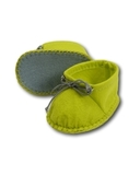 Ботиночки из фетра - Зеленый. Одежда для кукол, пупсов и мягких игрушек.