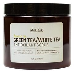 Антиоксидантный скраб с зеленым и белым чаем, Mahash