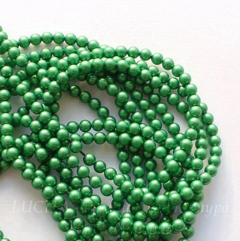5810 Хрустальный жемчуг Сваровски Crystal Eden Green круглый 6 мм, 5 шт