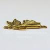 """Подвеска """"Эльф"""" (цвет - античное золото)  41х25 мм"""