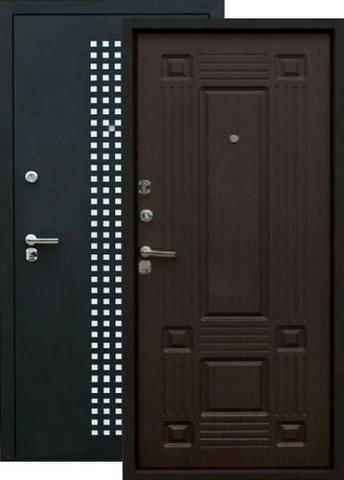 Сейф-дверь Зевс Z-5 Италия, 2 замка, 1,5 мм  металл (чёрный шёлк+венге шёлк)