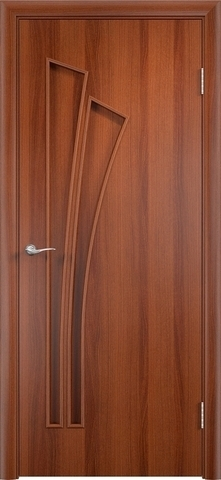 Дверь Сибирь Профиль Лагуна (С-7), цвет итальянский орех, глухая