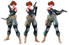 Metal Gear Solid Play Arts Kai - Meryl Silverburgh