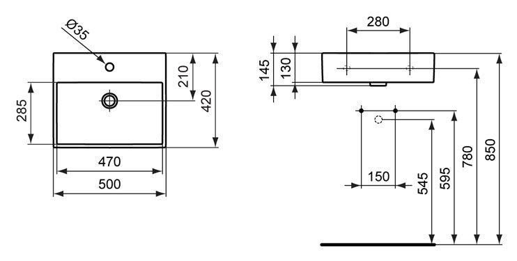 Умывальник Ideal Standard Strada K077701
