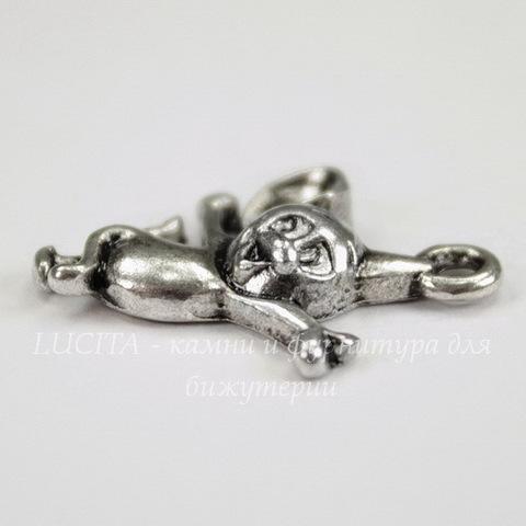 """Подвеска """"Мышонок Джерри"""" (цвет - античное серебро) 22х16 мм"""