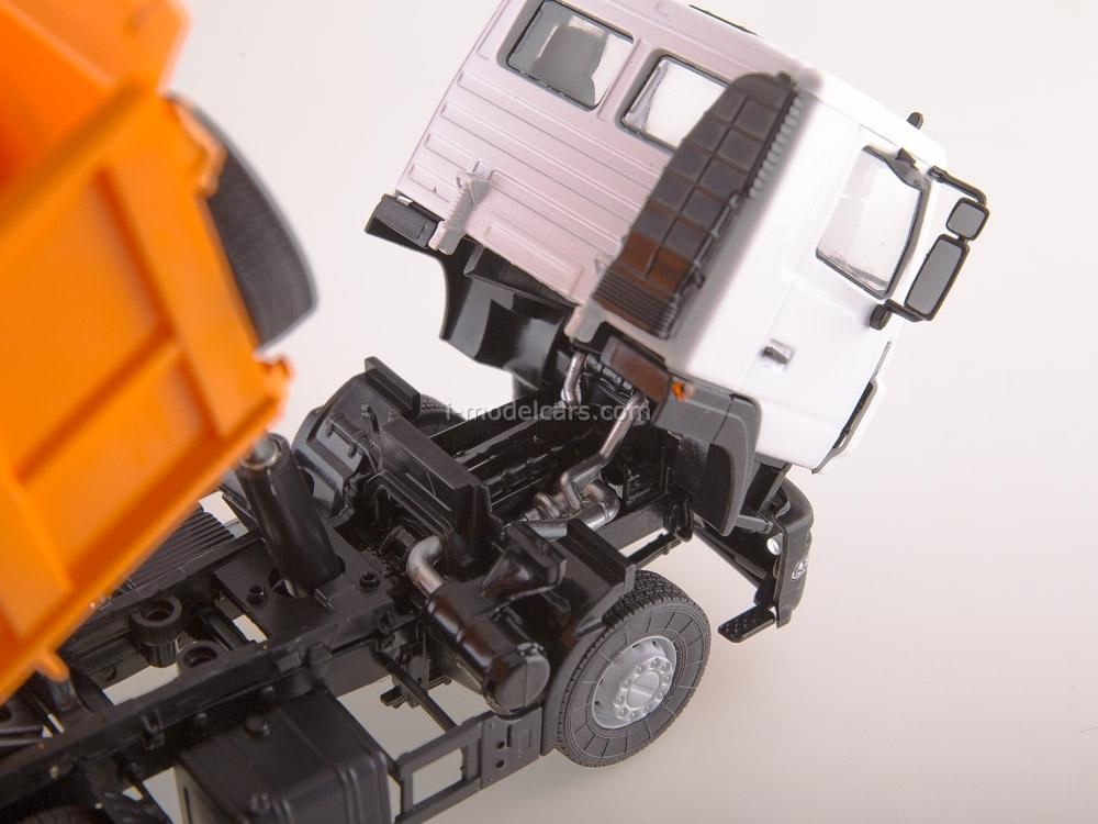 MAZ-6501 dump truck restyling white-orange 1:43 AutoHistory