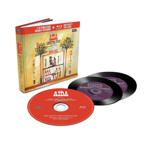 Leontyne Price, Jon Vickers, Robert Merrill, Rome Opera House Orchestra And Chorus, Georg Solti / Verdi: Aida (2CD+Blu-ray Audio)