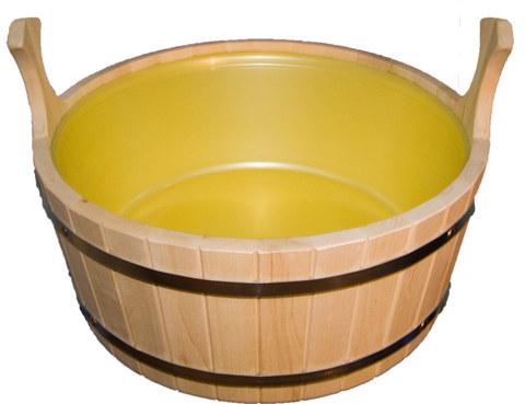 Шайка с пластиковой вставкой 15 литров (липа)