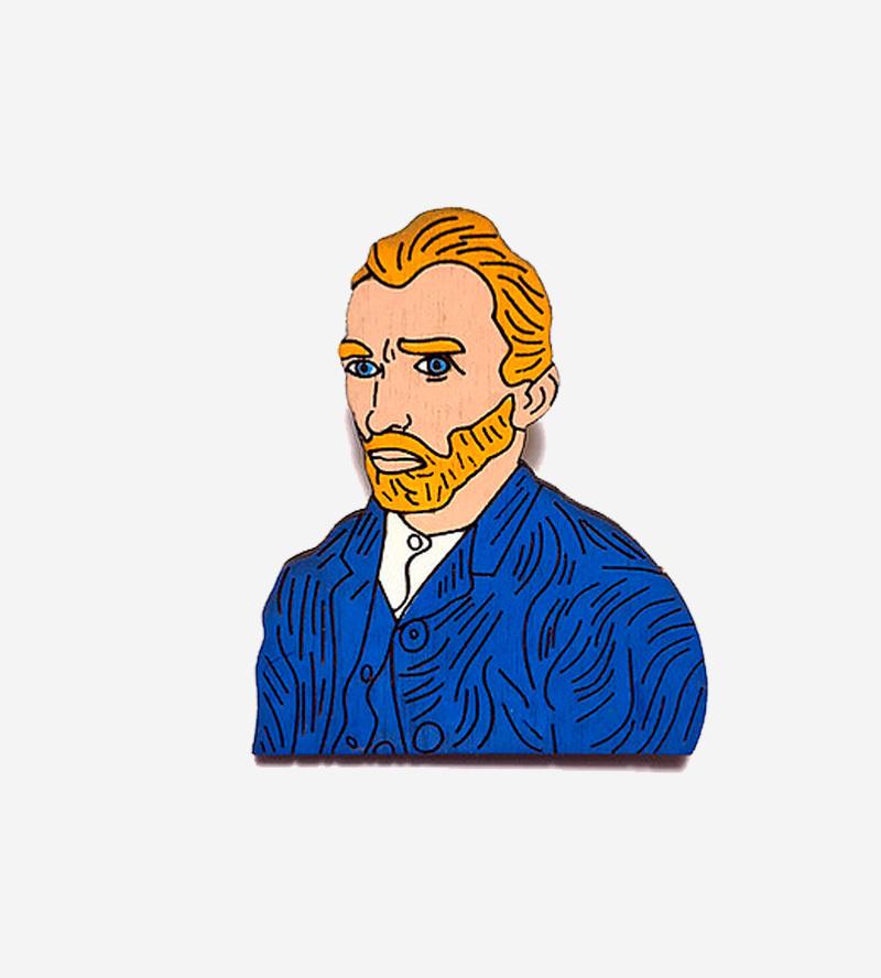Брошь Ван Гог