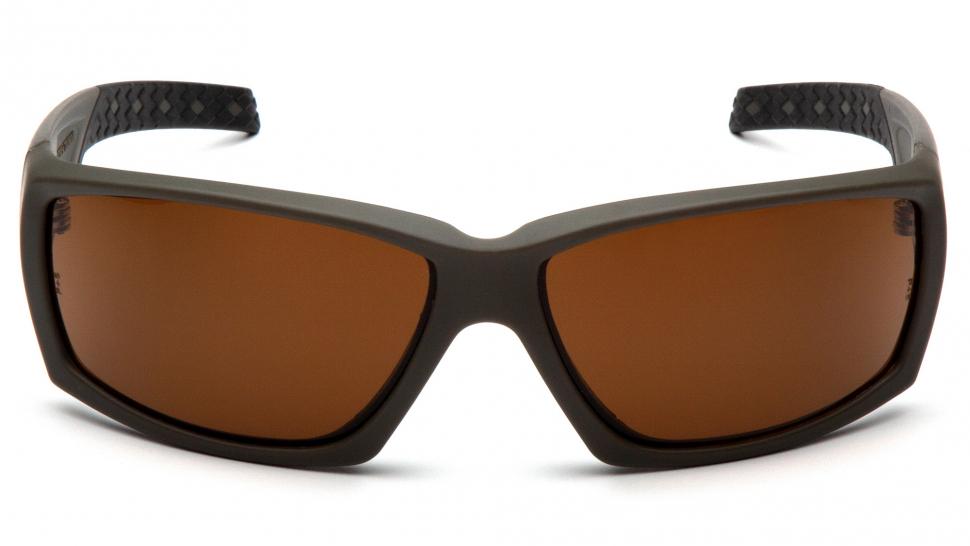 Очки баллистические стрелковые Pyramex Overwatch VGSG718T Anti-fog коричневые 23%