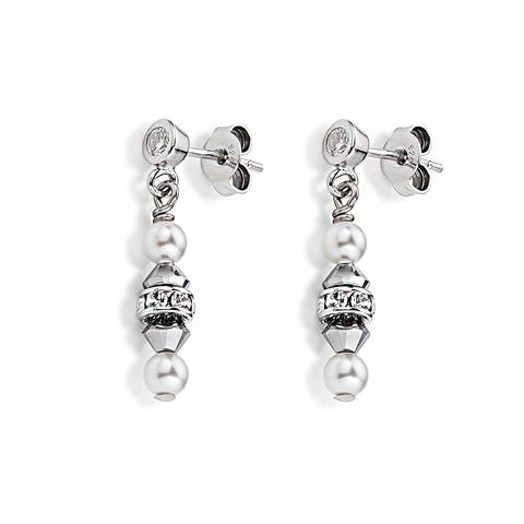 Серьги Coeur de Lion 4828/21-1700 цвет серый, белый, серебряный