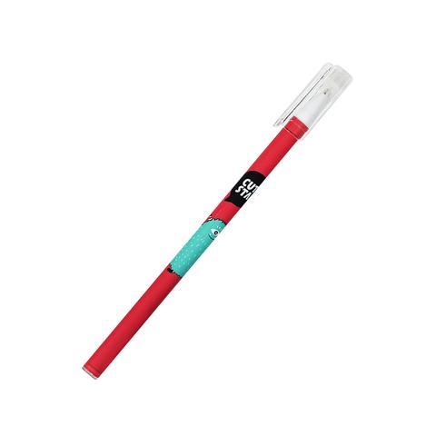 Ручка черная гелевая Monster Red