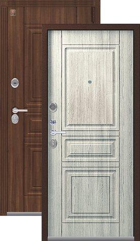 Тёплая дверь входная Легион L-4, 2 замка, 1,5 мм  металл, (медный муар+полярный дуб)