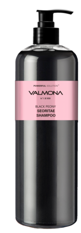 EVAS VALMONA Шампунь для волос ЧЕРНЫЕ БОБЫ Powerful Solution Black Peony Seoritae Shampoo
