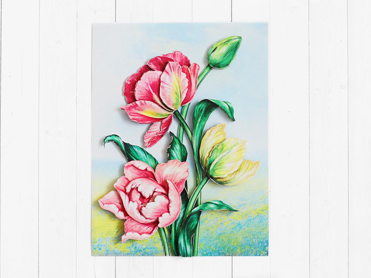 Папертоль Весенние тюльпаны - готовая работа