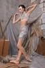 Удлинённые разогревающие шорты-сауна, испачканные принтом