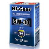 HI-Gear 5w30 SM/CF Синтетическое моторное масло