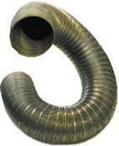 Полужесткий воздуховод из нержавеющей стали ф140 (2м)